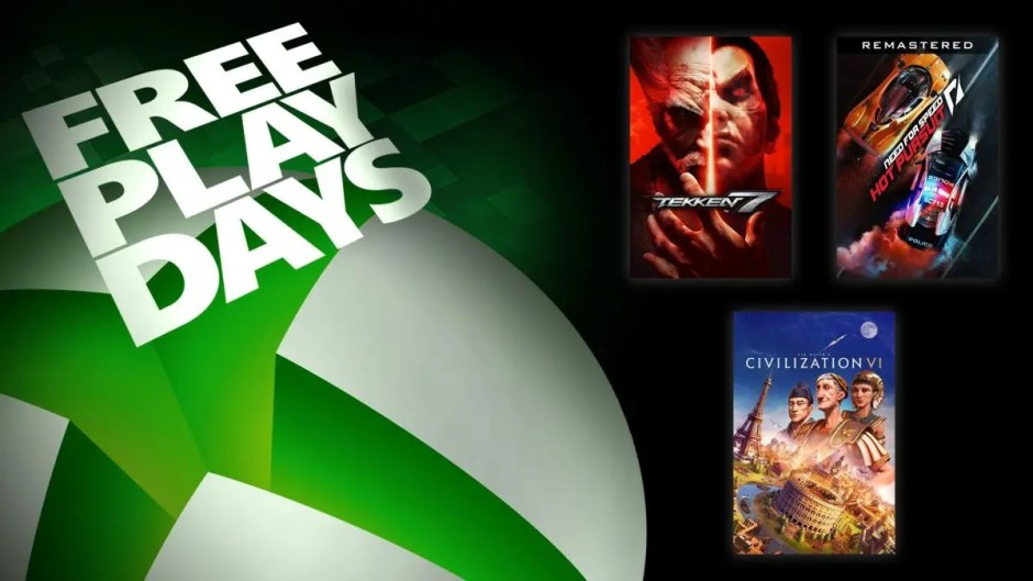 Xbox Free Play Days: Tekken 7, Need for Speed Hot Pursuit Remastered, Civilization VI