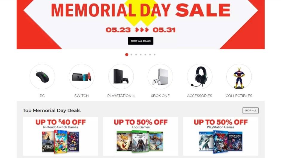 GameStop Memorial Day Sale
