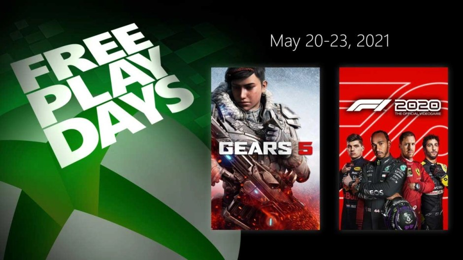 Xbox Free Play Days: Gears 5 and F1 2020