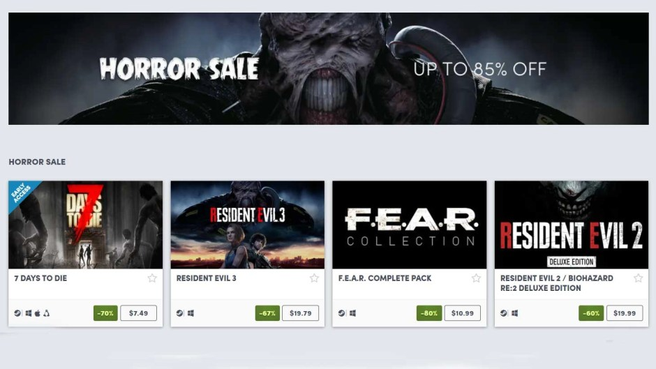 Humble Store Horror Sale: Save big on Resident Evil, Dead Rising, and more