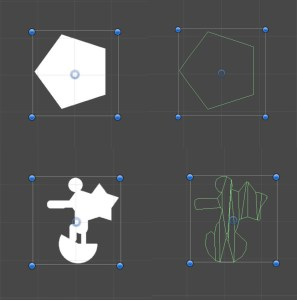 Free forms polygon collider2D