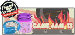 Visuel de présentation de la Game Jam #15 de la Game Dev Party