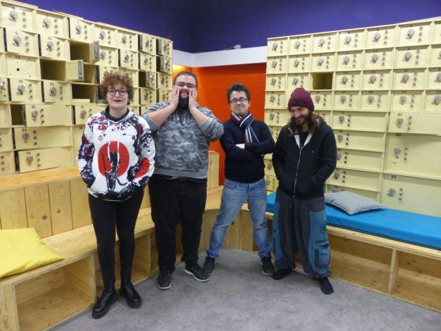 Les quatre membres de l'équipe des Orduritariens