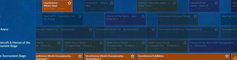 Hearthstone BlizzCon Schedule