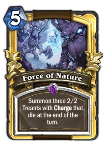 Hearthstone Force of Nature