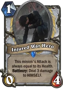 Hearthstone Injured War HeroNerfed