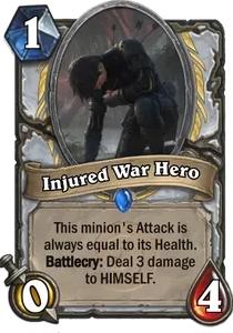 Hearthstone Injured War HeroNerfed