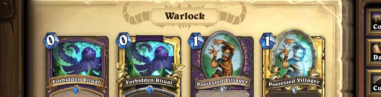 Hearthstone OG Warlock