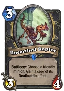 Hearthstone Unearthed Raptor