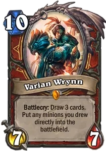 Hearthstone Varian Wrynn