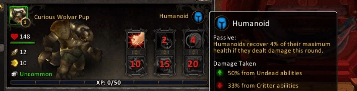 WoW Pet Battle Perks Humanoid
