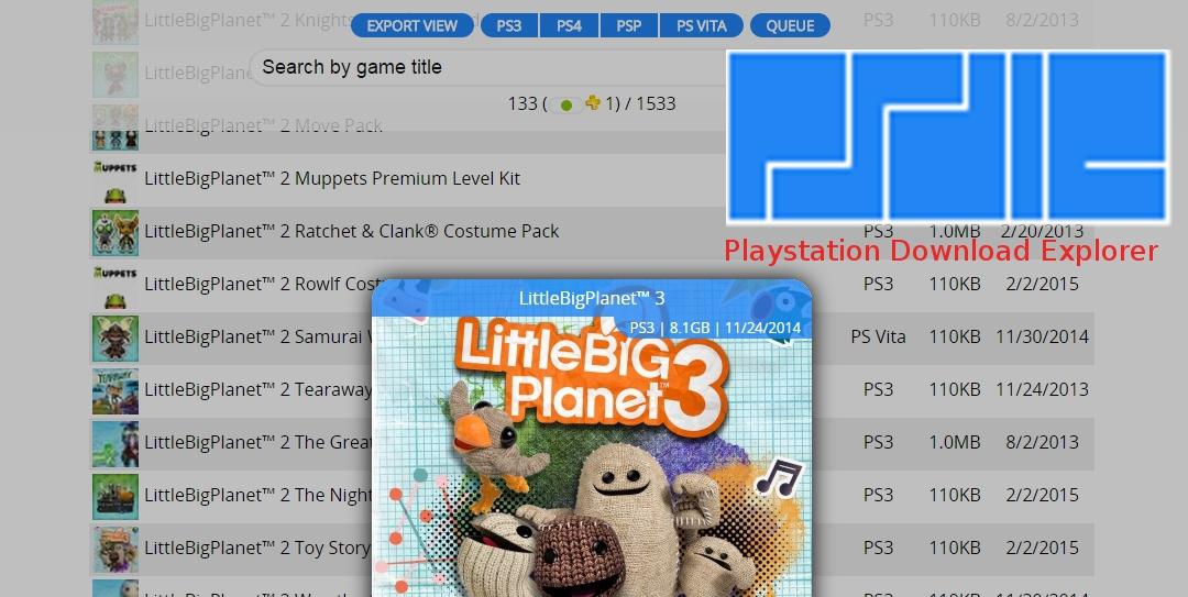 The Perfect Tool for Browsing Your PlayStation Download List