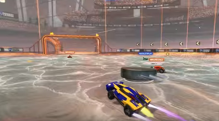 Rocket League Car Hockey