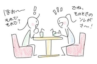 一対一で向き合って話していると、相手もふんふんと相槌をうちながら聴いてくれるイメージ