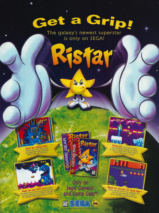 Ristar The Shooting Star Download Game GameFabrique