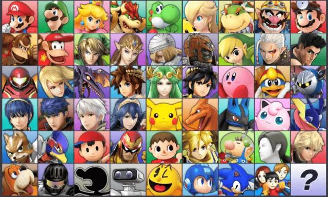 Super Smash Bros Wii U - Roster