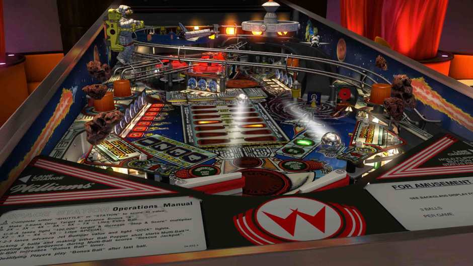 Space Station table in Williams Pinball: Volume 6 for Pinball FX3
