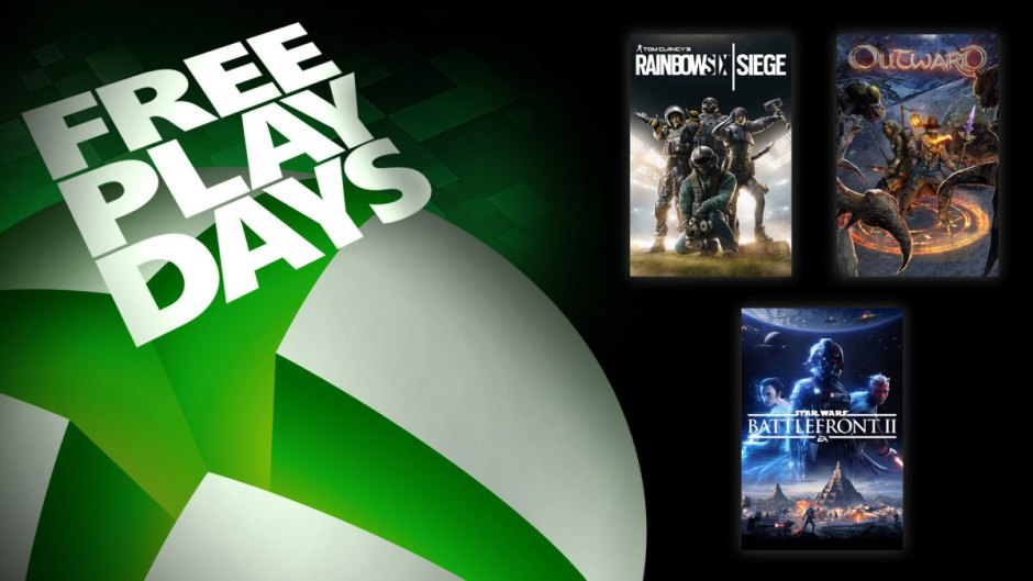 Xbox Free Play Days: Star Wars Battlefront II, Rainbow Six Siege, Outward