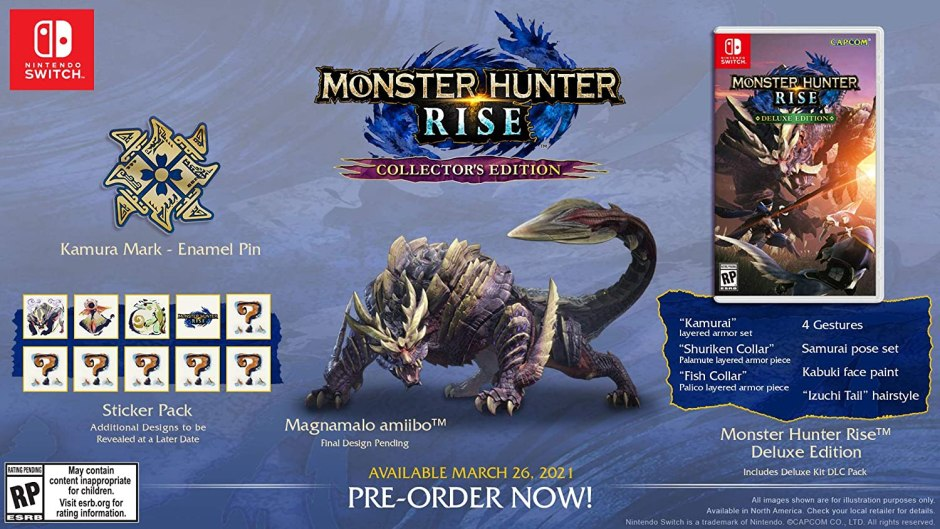 Monster Hunter Rise: Collector's Edition Magnamalo Amiibo