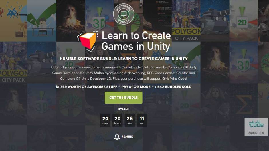 Humble Learn to Create Games in Unity Bundle