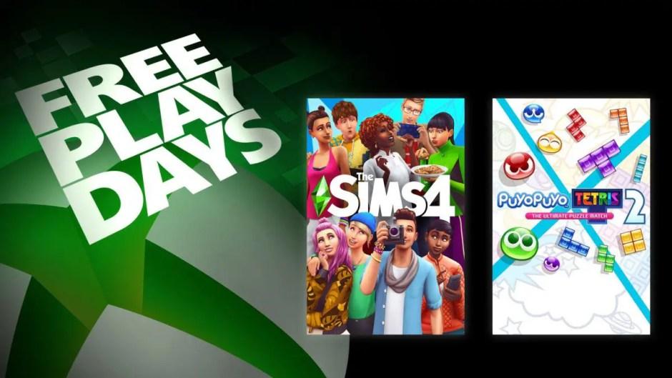 Xbox Free Play Days: The Sims 4, Puyo Puyo Tetris 2