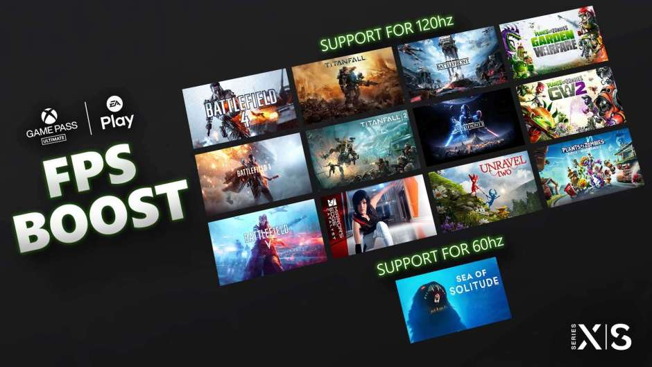 EA Play titles on Xbox Game Pass Ultimate