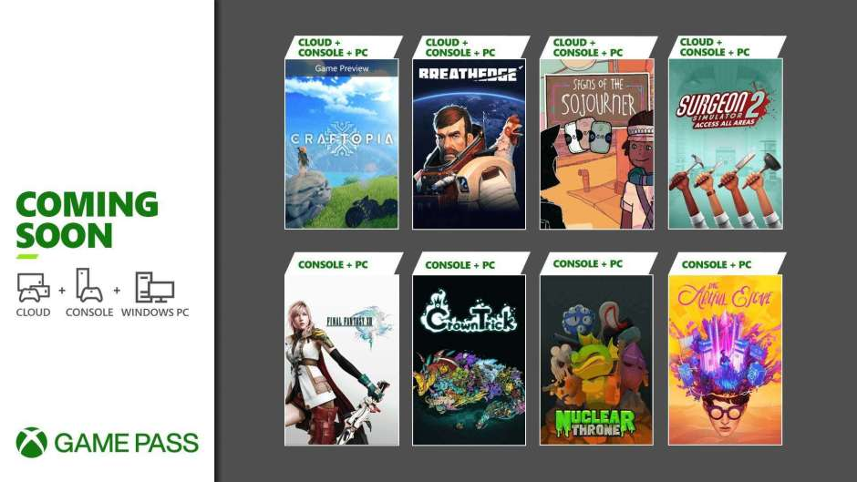 Final Fantasy XIII, Craftopia, and more coming soon to Xbox Game Pass