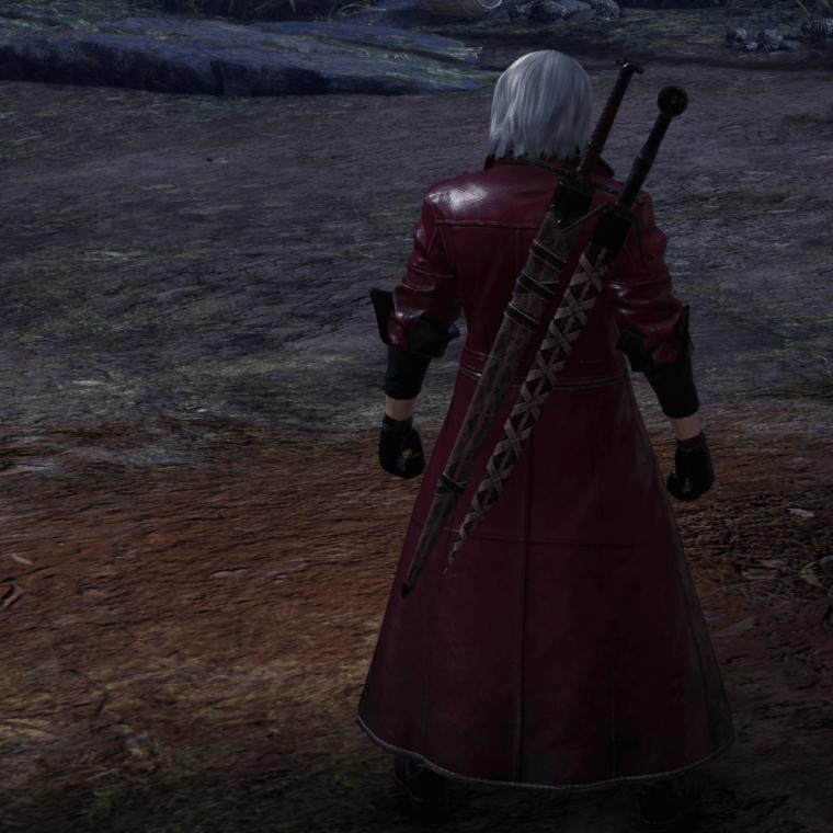 Witcher's silver sword monster hunter world