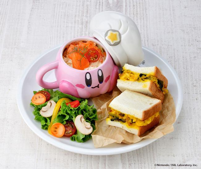まんぷく!秋の彩りプレート ~サーモンクリームパスタ&かぼちゃサラダサンド~