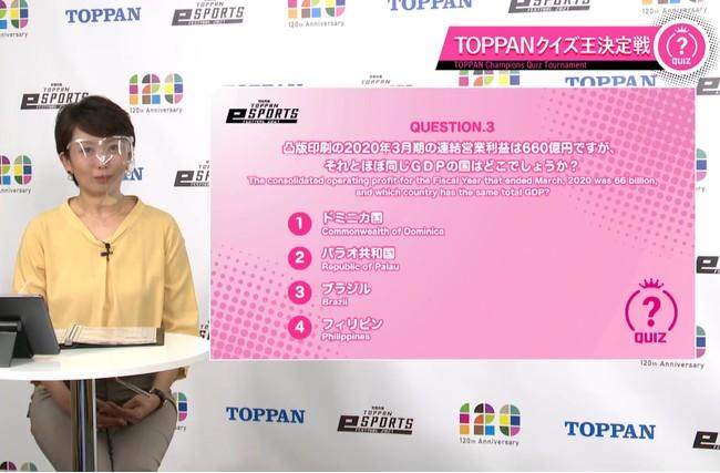 「TOPPANクイズ王決定戦」の様子  © Toppan Printing Co., Ltd