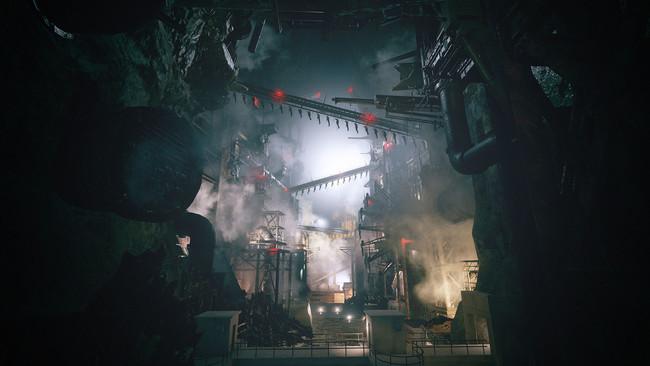 鄙びた村にはおよそ似つかわしくない工場がどこかに存在する。人の形をした何かがコンベアーで運ばれているようだ。