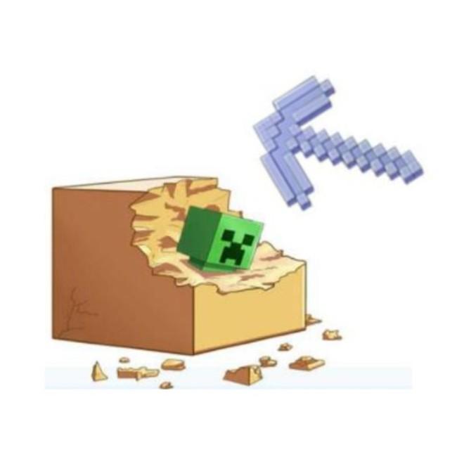【Minecraft】マインクラフトの世界を体験!ピッケルでクリーパーなどを発掘できるキットがヴィレヴァンオンラインに新登場!