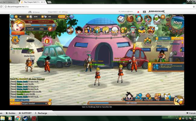 Dragon Ball Z Online Gamehag