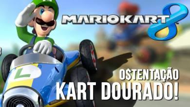 Mario Kart 8 - Luigi Ostentação - Kart Dourado - Wii-U