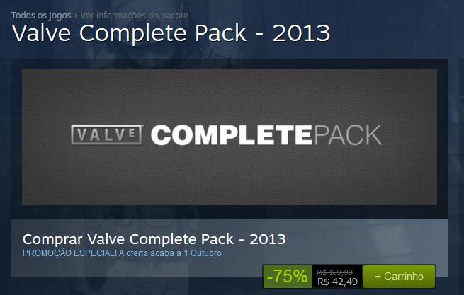 Valve Complete Pack - Steam - Promoção