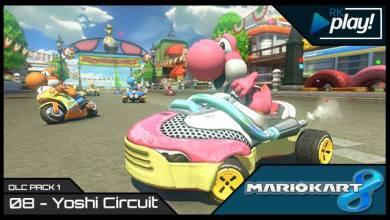 Mario Kart 8 - Yoshi Circuit e Yoshi Rosa - Imagem