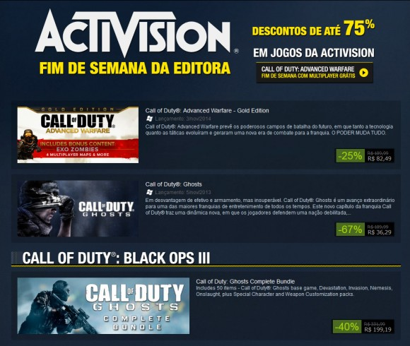 Activision - Call of Duty Sale - Steam