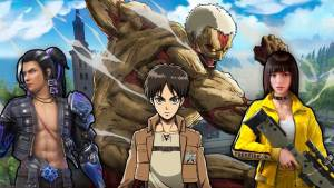 Free Fire terá crossover com Attack on Titan