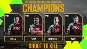 ESL PUBG Masters: Shoot To Kill, dos EUA, vence a competição