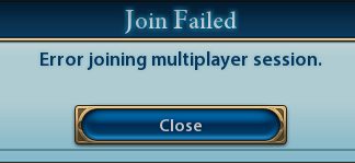 Civ 6 Error Joining Multiplayer Session