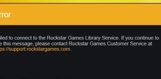 Failed to connect to the rockstar games library service