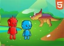 冰火人恐龍世界冒險 - 小遊戲谷