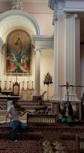 Budi And Tristan In Sacred Heart Cathedral
