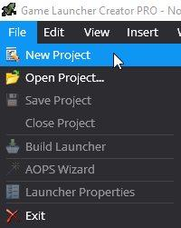 File New Project