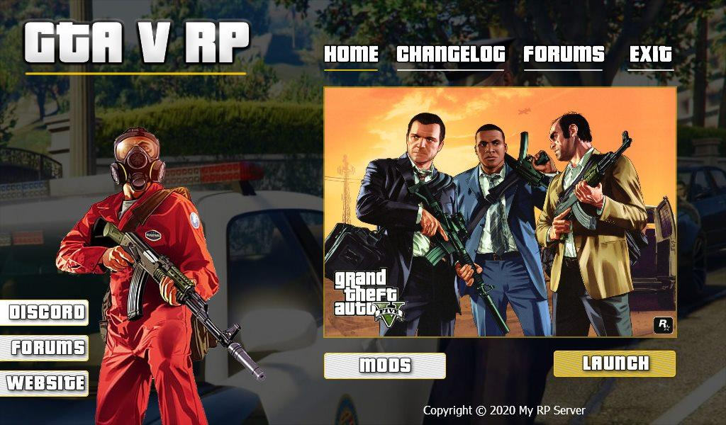 GTA V Custom FiveM Launcher