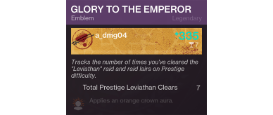 Glory to the emperor