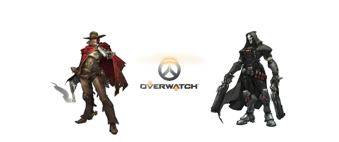 Wallpapper overwatch - mc cree e reaper