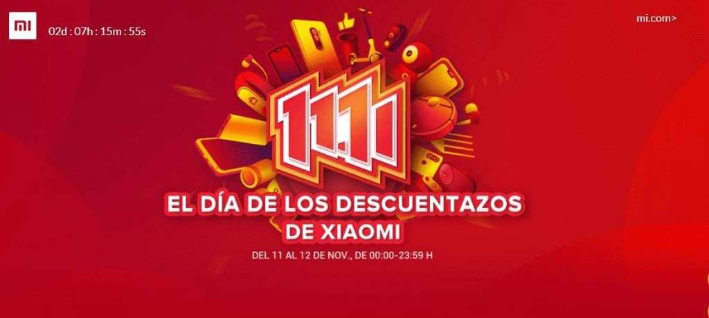 promociones del 11-11 de Xiaomi