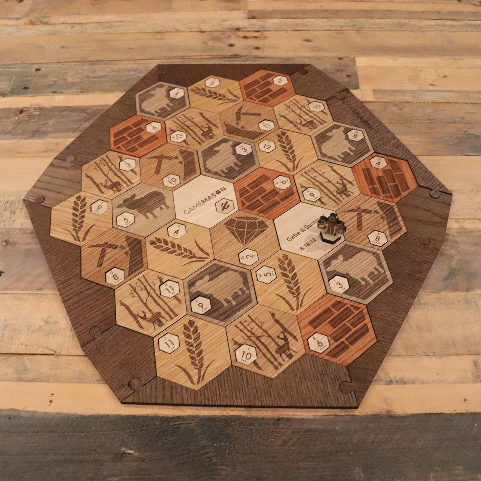 Deluxe Wooden Catan Set White Oak 5 6 Player Expansion Wedding Anniversary Edition