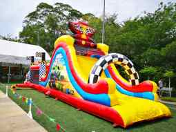 Car Theme Inflatable Obstacle Course